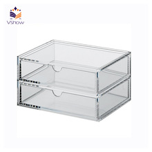 Acrylic countertop jewelry drawer organizer compartment
