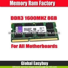 Bulk wholesale laptops computer parts 8gb ram ddr3 1600mhz memory