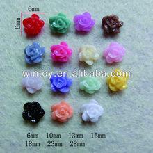 resin Rose flower for nail art . cute resin rose flower for DIY craft making
