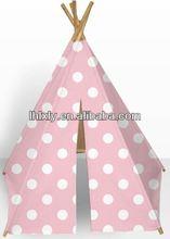 pink princes children kids play indoor indian teepee tent