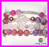 ladies bracelet models, stone bead bracelet, charm bead bracelet H2247