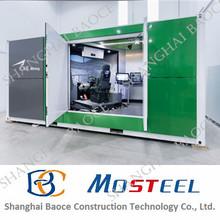 LIVING steel frame folding kiosk prefab ablution unit