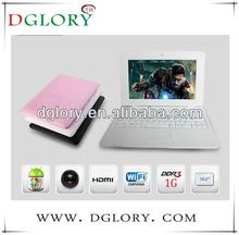 "DG-NB1001 10.2"" netbook VIA8850 resolution 1024*600 512MB/4GB barrtery 3200mAh laptop"