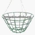 galvanizado hierro forjado colgando de la pared decorativo cesta de plantadores de balcón