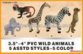 Oem juguetesdeplástico/juguetes animales/pvc animales salvajes, salvaje de plástico de juguete de los animales