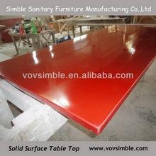 red corian solid surface countertop artificial stone countertop composite acrylic solid surface countertop