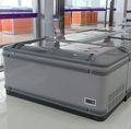 aht 2014 vidro duplo superior aberta refrigeração contadores de carne ce geladeira comercial curvo freezer ilha freezer