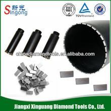 Diamond segment for rock core drill bit