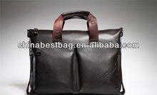 Fashion business bag shoulder bag for men leather laptop bag