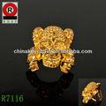 personalizada grandilocuente de oro plateado bloodcurdling cráneo anillo del dedo
