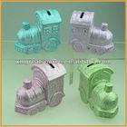 hotsale new design train shape ceramic coin bank money box