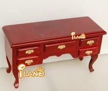 Dollhouse Miniature Furniture Vintage Desk Curved Leg w/drawer M564