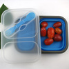 Foldable silicone lunch box/eco friendly bento box/food storage box