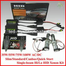 High quality 35w 55w H4-3 hi/lo dual beam hid xenon kit