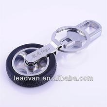 Car Logo Tyre Keychain factory,metal key ring car brand