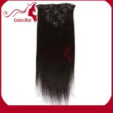 Carina Hair Products 2014 Top Seller Brazilian Virgin Human Hair Natural Unprocessed French Hair Clip