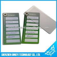 Clear Plastic Key tag
