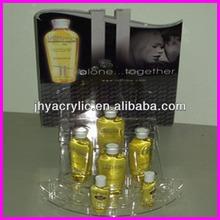 Black/White Acrylic Cosmetic Display with Printing on the Backboard, Acrylic Lipstick Stand, Acrylic Display (Skype:jhyacrylic1)
