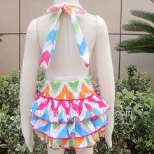 Chevron arcobaleno costumi da bagno per bambini, bambino costume da bagno ragazza, balbettio pagliaccetto