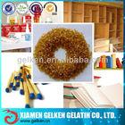 Bovine bone glue gelatin in pearls as bonding agent for gum tape,gluewater,furniture
