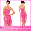 2014 Wholesale Strapless Chest Wrap Cocktail Long Dress Rose sexy mature elegant mini dress