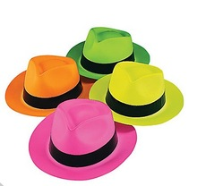 New Style Halloween Neon Gangster Hats