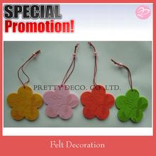 Decorative flower shaped felt for festival decoration