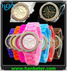Hot fashion wholesale geneva watch for men/women with diamond colorful----China supplier