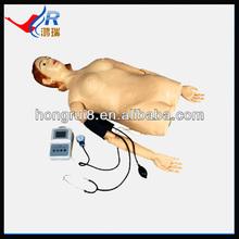 Digital remote computer simulated human abdominal palpation, abdominal palpation manikin