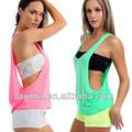 venda quente das mulheres sexy juniores drape tank top atacado camisetas simples com o lado aberto