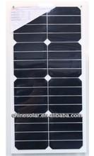 25W high efficiency semi flexible solar panel for RV,caravan,boat,yacht,roof