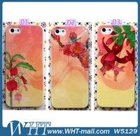 Distributors Wanted Flower Print TPU Case for iPhone 5s Back Cover