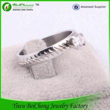 2014 joyas en acero inoxidable joyas anillo joyas de piedras preciosas