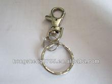 metal lanyard swivel carabiner clip/metal snap hook with key ring