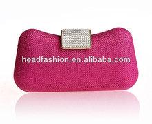 metal accessories for handbags in fushia
