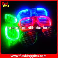 Light Up Shutter Wholesale Led glasses glow in the dark sunglasses