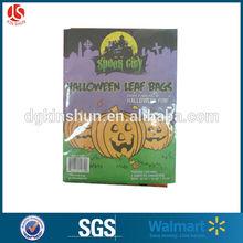 3 pack of 2 sizes orange halloween pumpkin leaf family bag