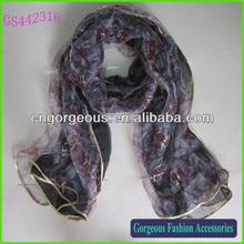 High fashion silk feel scarf fashion