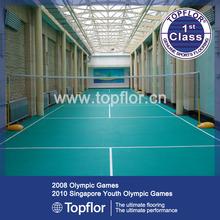 6.0mm PVC Sports Surface/Indoor Badminton Court Floor