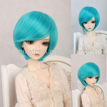 beautiful wholesale BJD kanekalon short blue bob doll wig for american girl doll BJDW-0060