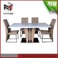 hot vender açoinoxidável rústica de madeira mesa de jantar conjuntos