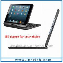 LBK156 wireless bluetooth keyboard case for iPad air swivel 360 rotation Case with bluetooth keyboard