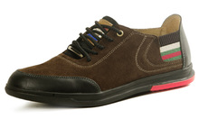 2014 breathable brown color leather mens casual shoes for summer