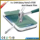 Anti-glare for Samsung Galaxy Note2 N7100 Pmma Anti-shock Screen Protector Shield