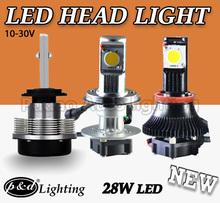 Led h4 22W cree 1800lm high power head lamp headlamp headlight head light fog bulbs with Built-In Fan at Bottom