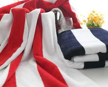 yarn dyed stripe promotional bath towel fabric