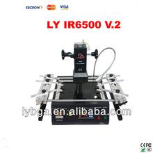 Newest Infrared BGA Rework Station LY IR6500 V.2, bigger preheat area 240*200mm, USB port, bottom 2 PC fan, PCB jigs 6 pcs