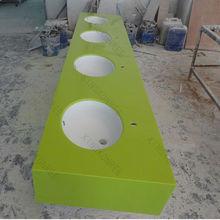 Resin stone commercial bathroom sink countertop