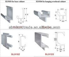 Aluminum profiles for kitchen cabinet, garderobe