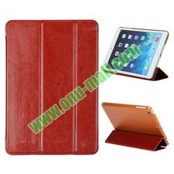 Pure Color 3-Folding Flip Leather Case for iPad Mini 2 Retina